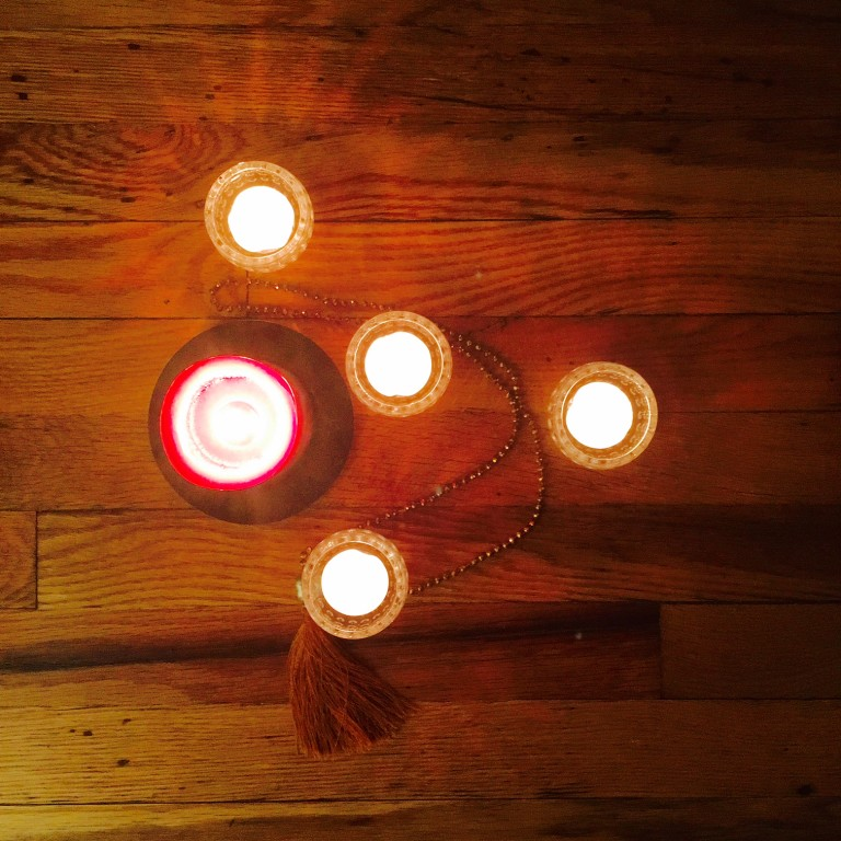 Candles prayer beads