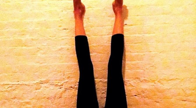 Viparita Karani legs up the wall yoga pose