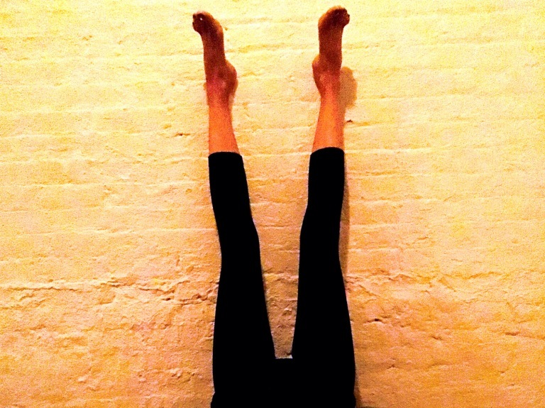 Viparita Karani legs up the wall yoga pose