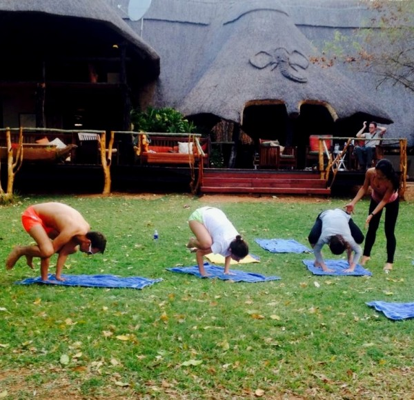 Yoga at the Lodge ZImbabwe